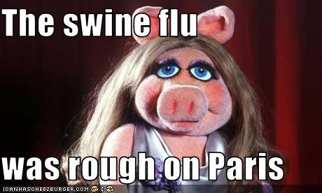 miss piggy,paris hilton,sickness,swine flu,the muppets