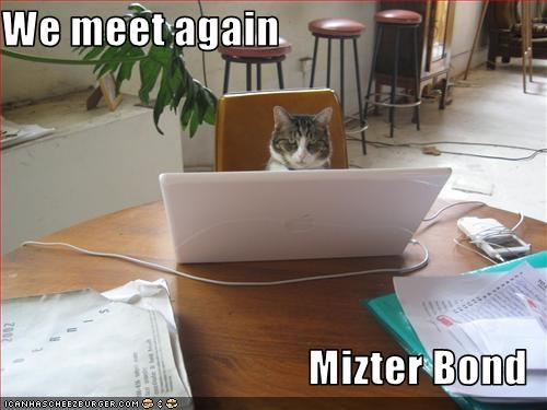 We meet again  Mizter Bond