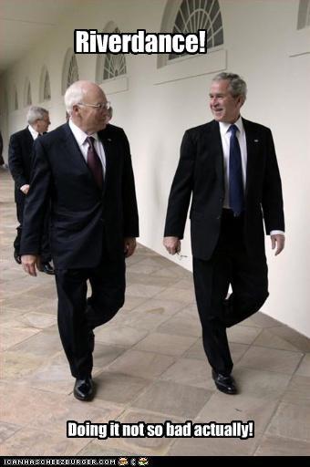 dancing,Dick Cheney,doin it rite,george w bush,president,Republicans,vice president