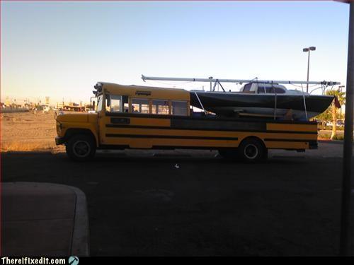 boat,hauling,mod,school bus