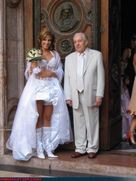 He pick out her wedding boots.