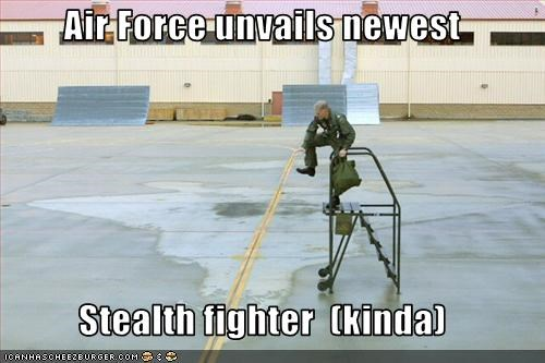 Air Force unvails newest  Stealth fighter  (kinda)