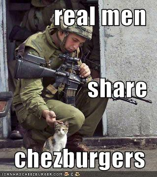 real men share chezburgers