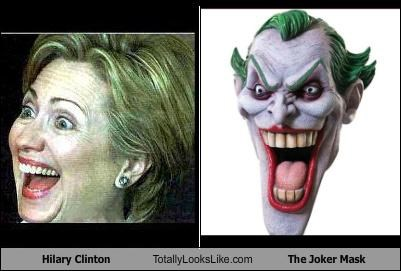 Hilary Clinton Totally Looks Like The Joker Mask