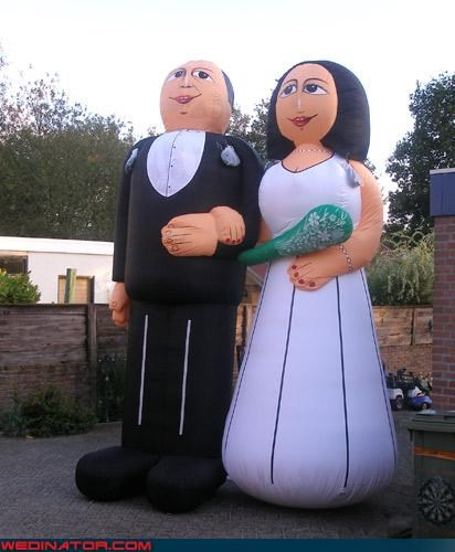 Either those are terribly unflattering or the Bride and Groom and hideous.