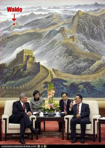 great wall of china,waldo