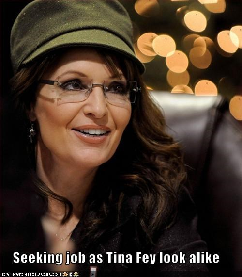 Seeking job as Tina Fey look alike