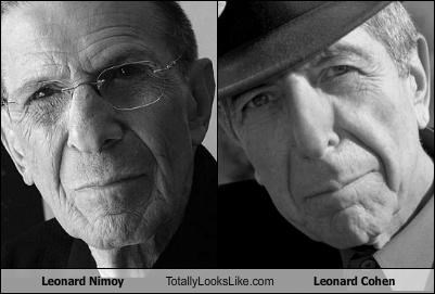 Home » Are Leonard Nimoy And Leonard Cohen Related