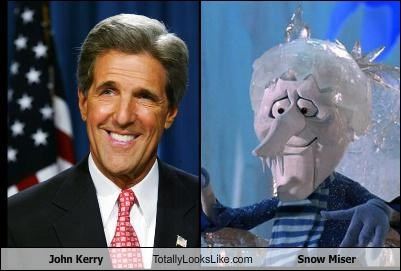 John Kerry Totally Looks Like Snow Miser