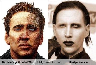 Nicolas Cage (Lord of War) Totally Looks Like Marilyn Manson