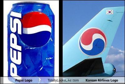 Pepsi Logo Totally Looks Like Korean Airlines Logo