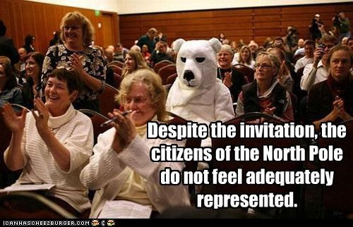 Despite the invitation, the citizens of the North Pole do not feel adequately represented.