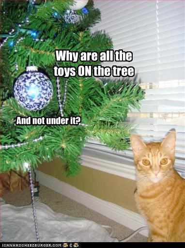 Why are all the toys ON the tree And not under it?
