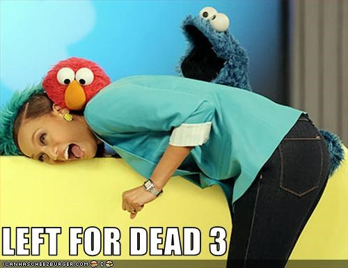 Cookie Monster,elmo,Left 4 Dead,talk shows,TV,Tyra Banks,video games