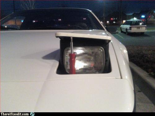 car,headlight,make it work,screwdriver