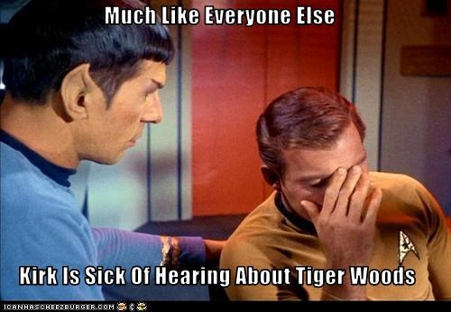 Much Like Everyone Else  Kirk Is Sick Of Hearing About Tiger Woods