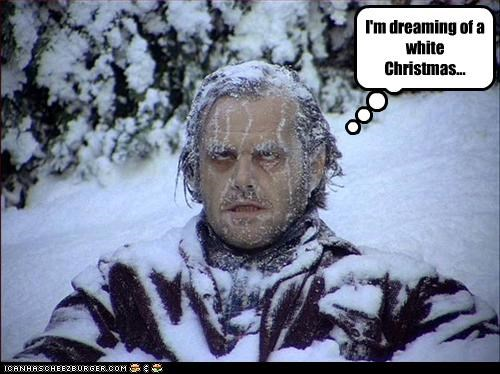 I'm dreaming of a white Christmas...