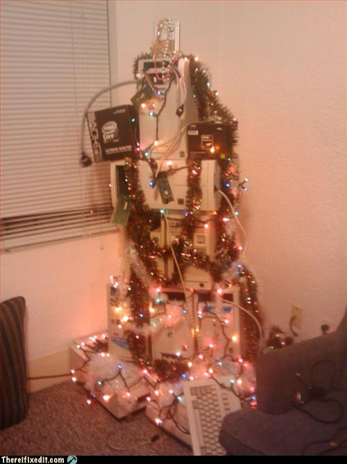 computer,fire hazard,mod,recycling-is-good-right,Xmas