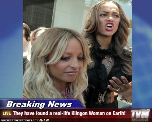 Breaking News - They have found a real-life Klingon Woman on Earth!