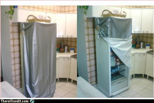 door,fridge,makeshift,use what you have