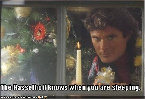 christmas,creepy,david hasselhoff,The Hoff