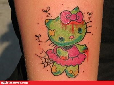animals,Cats,hello kitty,pop culture,ZOMBIE WEEK,zombie