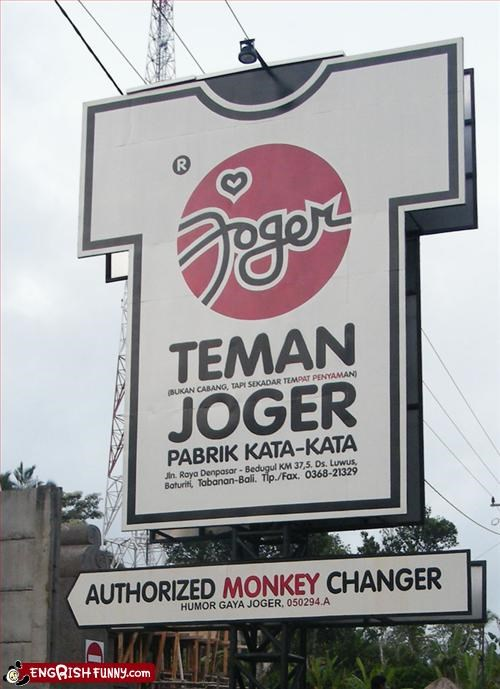 change,g rated,monkey,signs