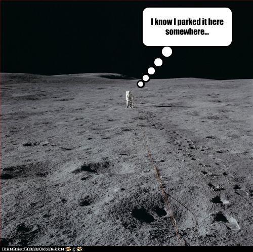 astronauts,nasa,parking,the moon landing