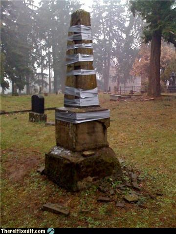 cemetery,duct tape,grave,no one will notice