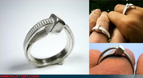 Bling,bride,eww,fashion is my passion,groom,piercing,tacky,unique wedding bands,were-in-love,wedding rings,wtf