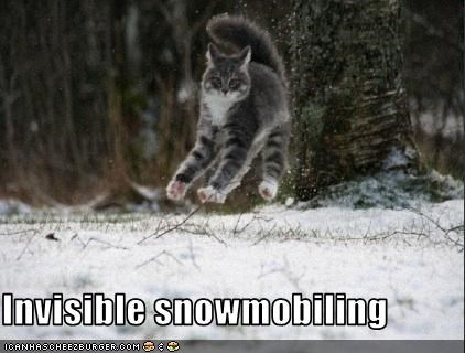 Invisible snowmobiling