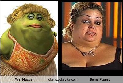 Mrs. Mucus Totally Looks Like Sonia Pizarro