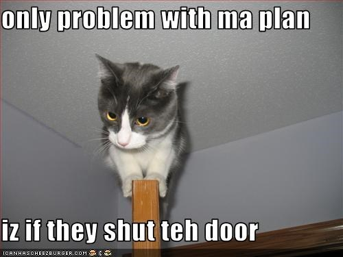 only problem with ma plan  iz if they shut teh door
