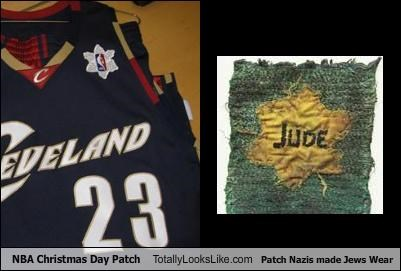 NBA Christmas Day Patch Totally Looks Like Patch Nazis made Jews Wear