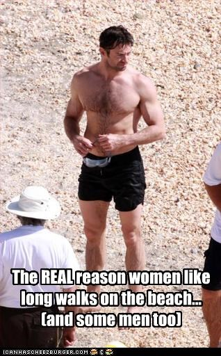 The REAL reason women like long walks on the beach... (and some men too)