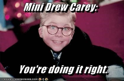 christmas,drew carey,lookalike,mini me,peter billingsley