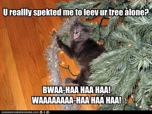 U reallly spekted me to leev ur tree alone?
