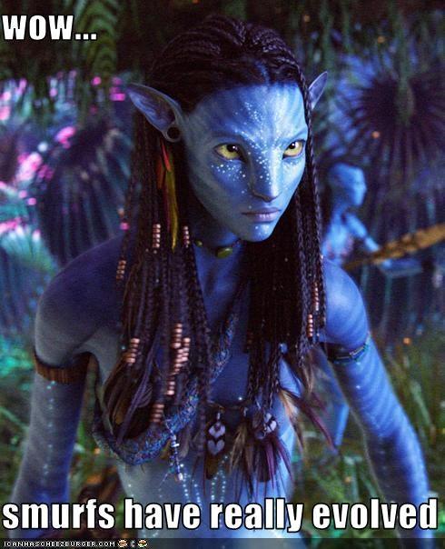 Avatar,cgi,movies,smurfs,zoe saldana