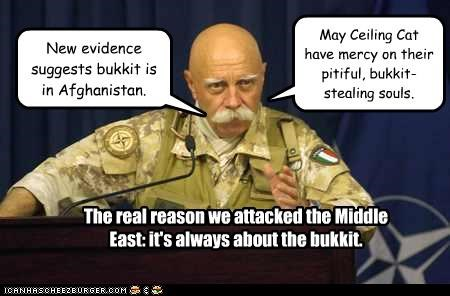 New evidence suggests bukkit is in Afghanistan.