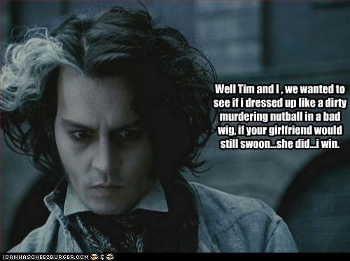 girlfriend,Johnny Depp,movies,sexy,Sweeney Todd,tim burton