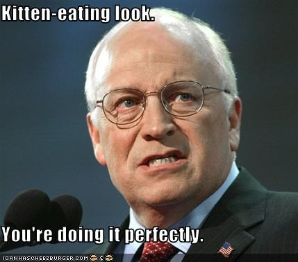 Dick Cheney,evil,kitten,Republicans,vice president