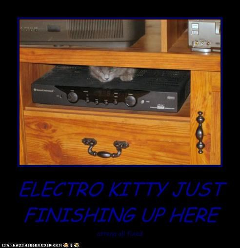 ELECTRO KITTY JUST  FINISHING UP HERE
