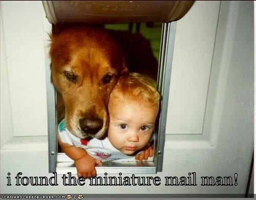 i found the miniature mail man!