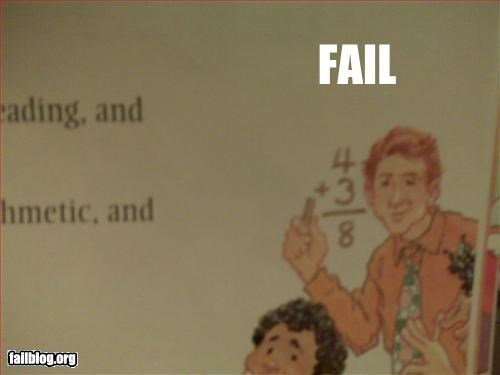 childrens book arithmatic fail