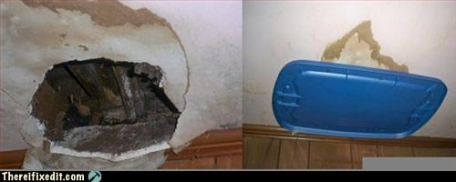 cover up,hole in the ceiling,lid,no one will notice