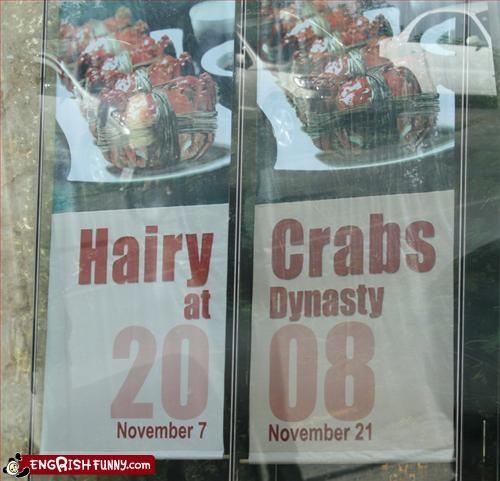 crabs,eww,hair,sign