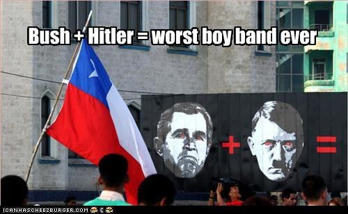 Bush + Hitler = worst boy band ever