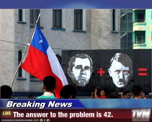 Breaking News - The answer to the problem is 42.
