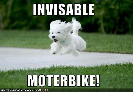 INVISABLE   MOTERBIKE!