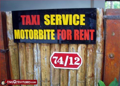 Motorbite for rent